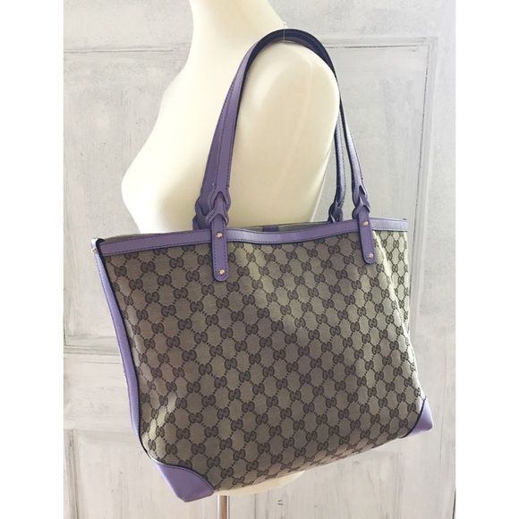 713f5d180769 Gucci Bags | Authentic Logo Canvas Leather Big Tote Purse | Poshmark